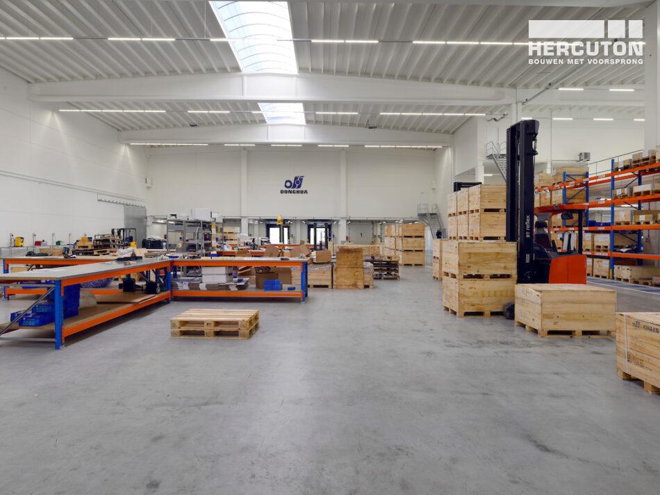 Hercuton realiseert nieuw bedrijfspand met kantoor en productieruimte Donghua International