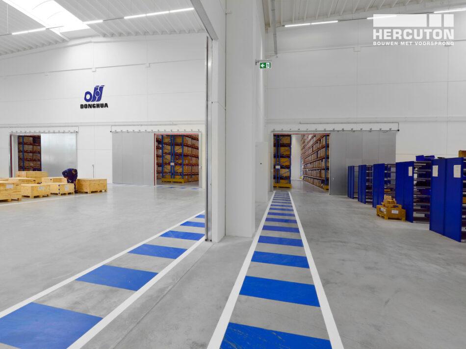 Nieuwbouw Donghua International in Alkmaar gerealiseerd door Hercuton